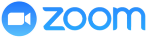 The blue Zoom logo