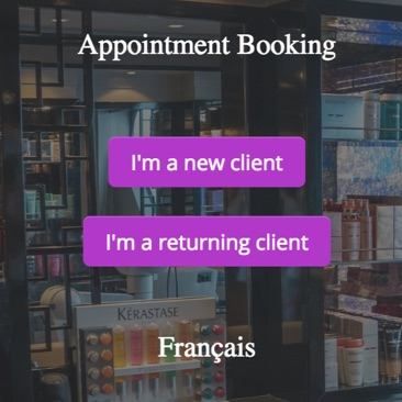 GOrendezvous booking appointment window for an beautician
