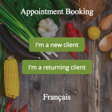 GOrendezvous booking appointment window for a nutritionist