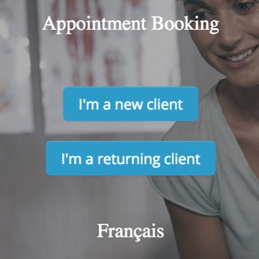 GOrendezvous booking appointment window for an osteopath, physiotherapist, or naturopath
