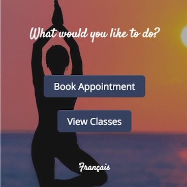 GOrendezvous booking appointment window for a fitness instructor